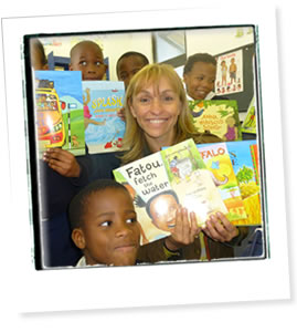 Michaela Strachan at school South Africa